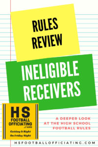 High School football officiating blog post graphic